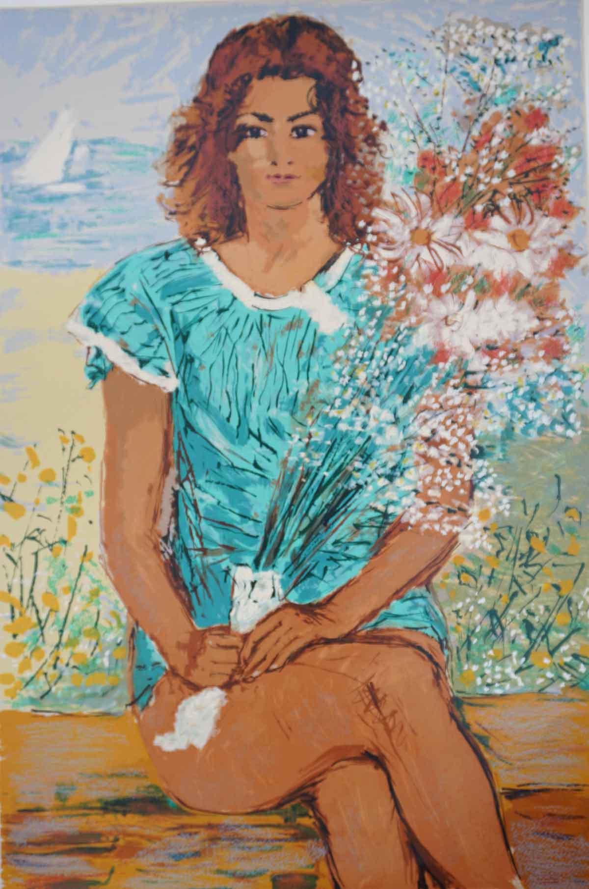 Cascella - Donna con i fiori
